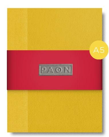 Carnet Design éco responsable - papier récupéré et recyclé rouge