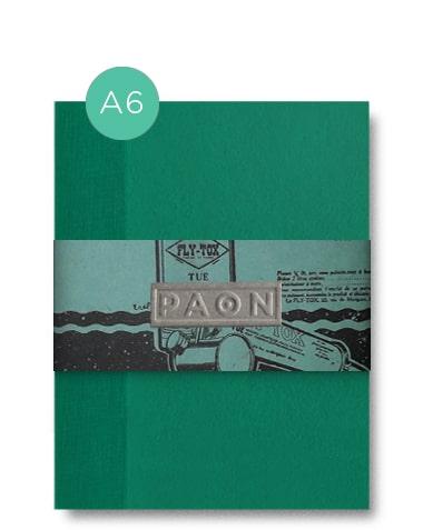 Carnet original- Papiers recyclés et réemployés, fabriqué en France, Couverture peinte à la main, reliure singer cousue, 92 pages.