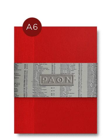 Carnet original A6 - Papiers recyclés et réemployés, fabriqué en France, Couverture peinte à la main, reliure singer cousue, 92 pages.